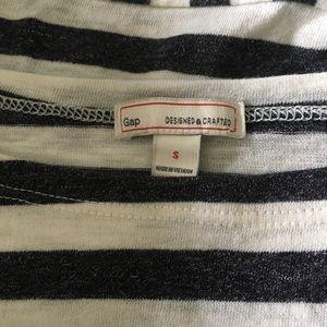 GAP Tops - Gap /a Black, White Striped Twist Front Tee Shirt